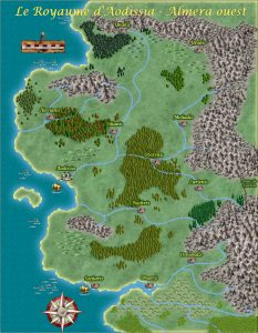 Carte du Royaume d'Aodissia